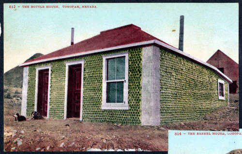 30 TONOPAH bottle house post card