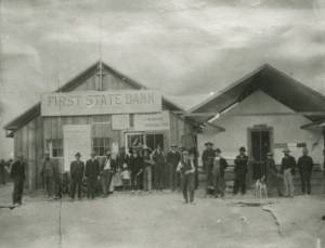 First State Bank of las vegas and post office mc wilians townsite 1905