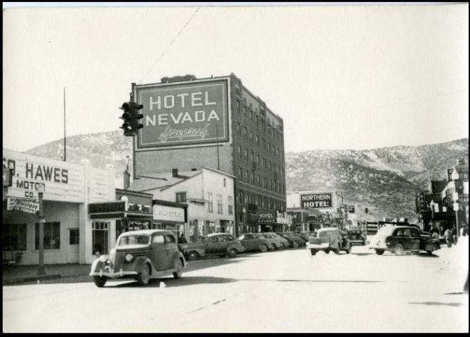 business district Ely 1935 UNR