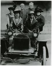 Ely residents pose in a car in slc unlv 1900 1910