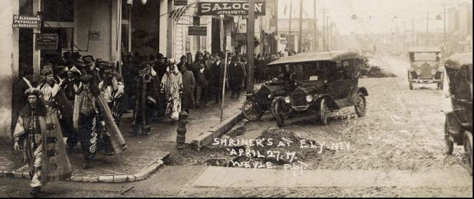 shriners at ely 1917 UNR