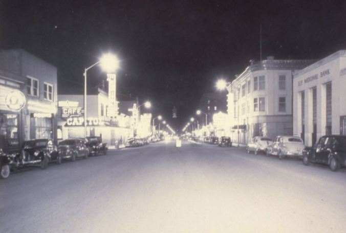 side of main street 1930s