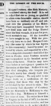 Morgan Courtney Daily Record 1873-08-03